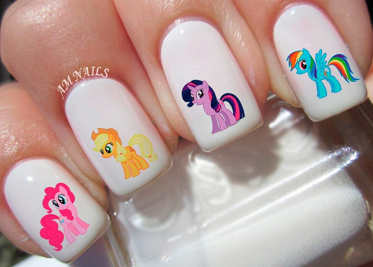 46 my little pony nail decals from amnails on etsy studio 46 my little pony nail decals prinsesfo Gallery