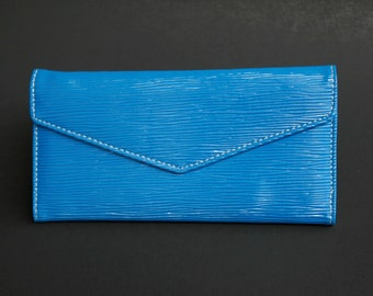 Womens Wallet, Leather Wallet, Blue Wallet, Blue Purse, Blue Leather Purse, Blue Leather Wallet.