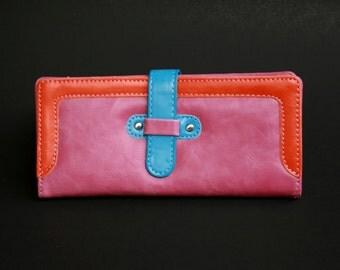 Womens Wallet, Leather Wallet, Purple Wallet, Purple Purse, Purple Leather Purse, Purple Leather Wallet.