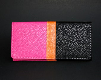 Womens Wallet, Leather Wallet, Red Wallet, Red Purse, Black Wallet, Black Purse