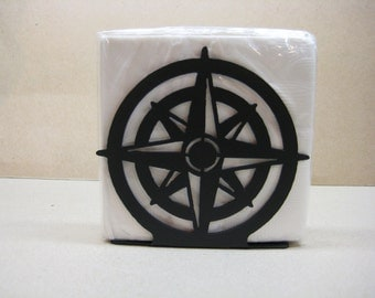 Compass Rose Napkin Holder Letter Holder Nautical Decor