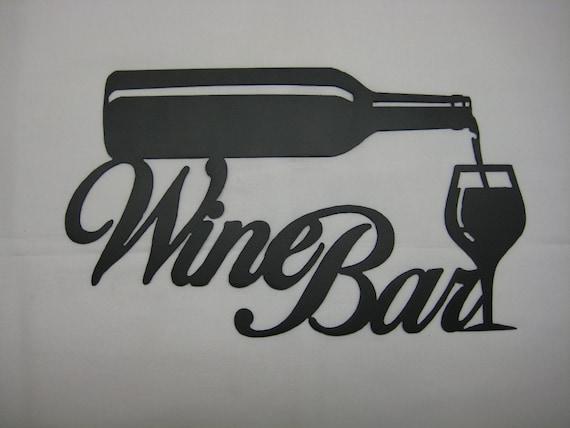 Metal Wine Bar Wall Sign By Pawdellhobbyshop On Etsy
