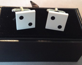 Lego tile cufflinks
