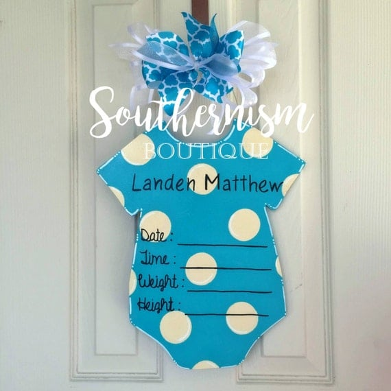 Hospital door hanger hospital door hanger by for Baby hospital door decoration
