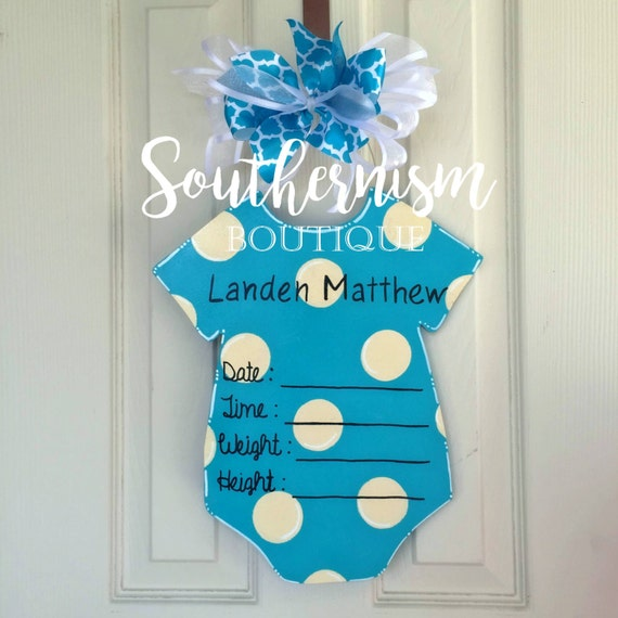 Hospital door hanger hospital door hanger by for Baby boy hospital door decoration