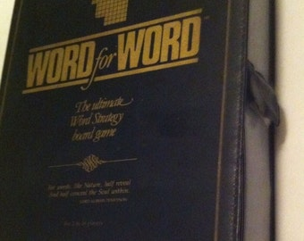 Vintage 1987 Word for Word Board Game by Spellcraft Canada.  100% Complete.  Up to 16 players