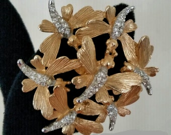 Vintage signed Boucher firefly trembler brooch
