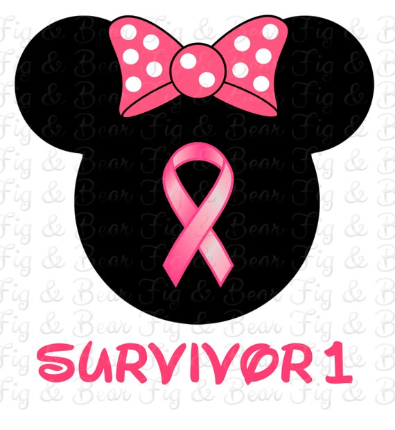 Disney Breast Cancer Ribbon Survivor Minnie Mouse T Shirt Iron
