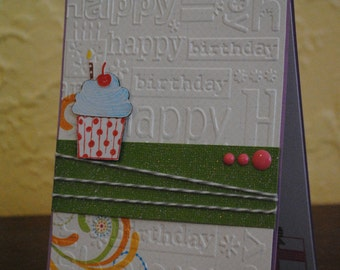 Handmade 'Happy Birthday' card, Birthday cards, Stampin' up, 'Cupcake party'