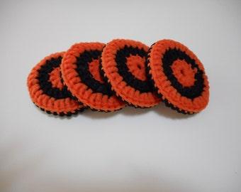 Orange and Black Scrubbies Set