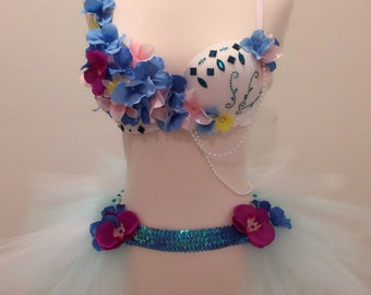Princess Orchid, Rave Bra EDC Outfit Halloween Costume