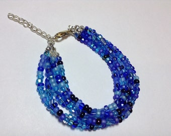 Czech Glass Multi-strand Bracelet