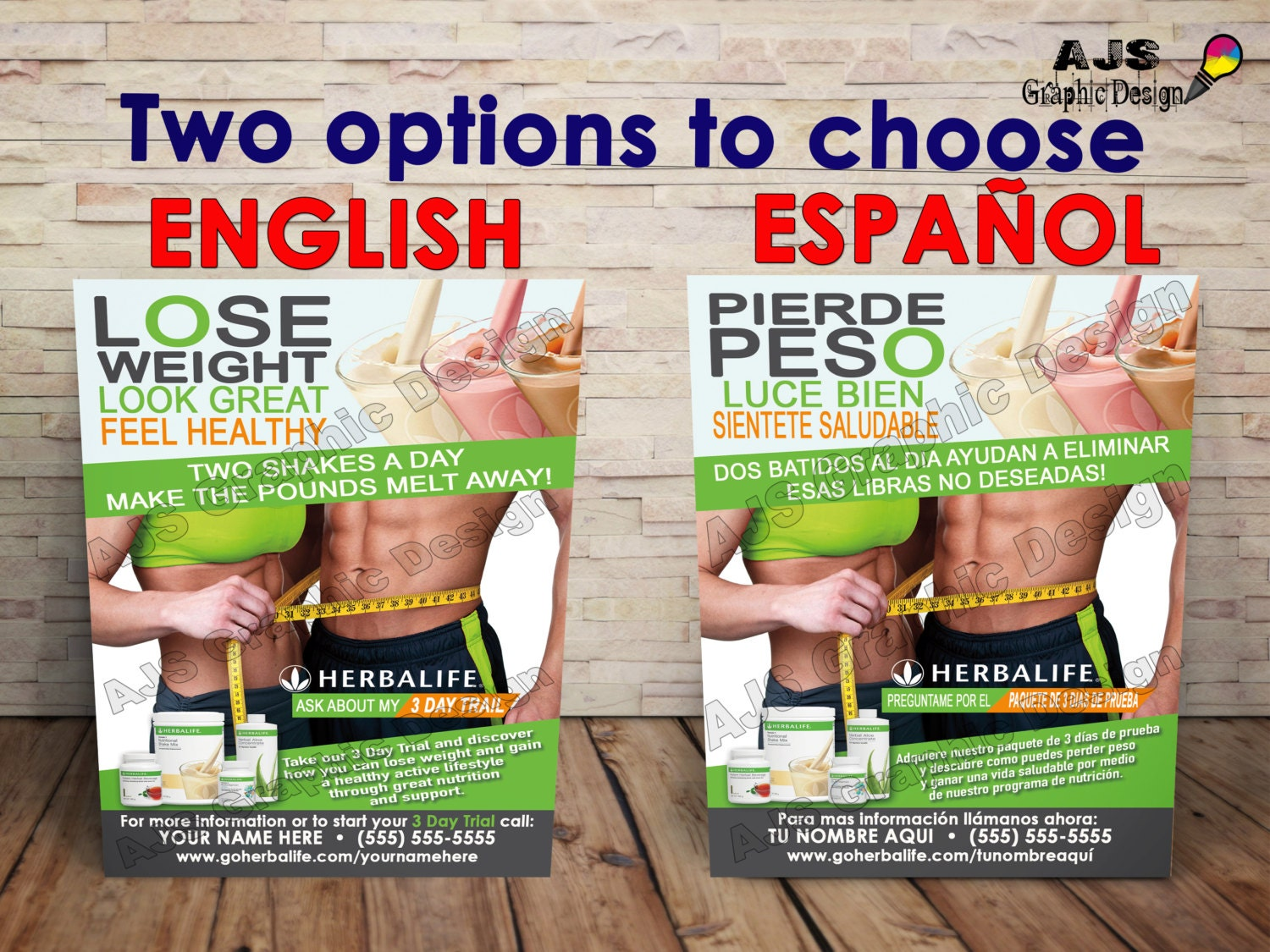 500 herbalife flyers 3 x 5 english or spanish by ajsgraphdesign. Black Bedroom Furniture Sets. Home Design Ideas