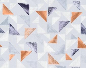 Block Print Orange | Organic Cotton | Cloud9 Fabrics | 1 Yard