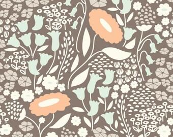 Lush Lullaby Grey   Organic Cotton   Cloud9 Fabrics   1 Yard