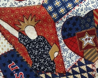 FF120 Patriotic Fabric (5 HALF yards available)