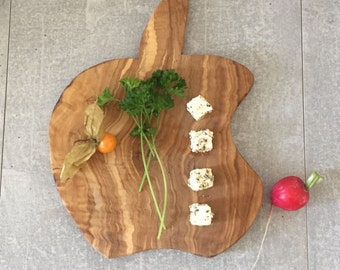 Olive Wood Cutting Board, Funny Chopping Board, Rustic Serving Board, Natural Kitchen, Garlic Board