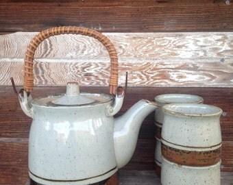 Vintage Otagiri Japan Stoneware Tea Pot Set