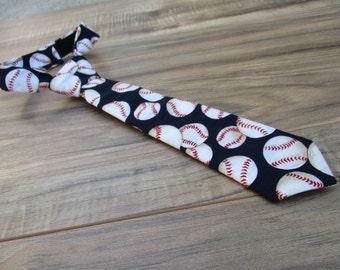 Baseball, Little Guy Ties, Newborn - 2T, Fabric Ties, Velcro Ties, Neckties
