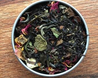 Elven Nectar Custom Loose Leaf Tea Blend - Caramel - Peach - Lemon Balm - White Tea- Black Tea