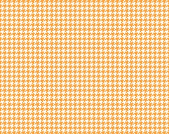 Orange Houndstooth on White Cardstock Paper