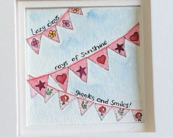 3d dreaming of summer bunting painting