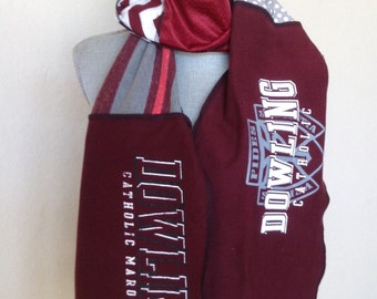 Upcycled t-shirt Dowling Maroons Scarf, DCHS Scarf, Upcycled Tshirt  Scarf, Dowling Catholic Maroons, Dowling Scarf
