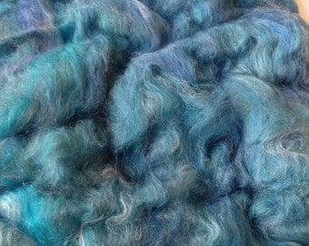 Wool fiber batt, wool art batt, spinning wool