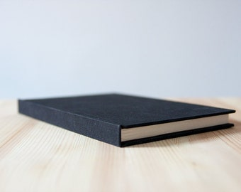 Black Cotton Hardcover Notebook   Sketchbook   Journal