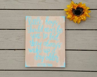 Peter Pan Quote 11x14 Canvas