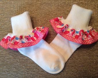 My Little Pony Pinkie Pie Ruffled Ribbon Socks