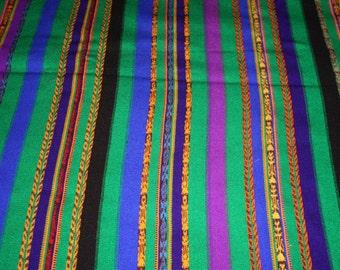 Guatemalan woolen woven fabric