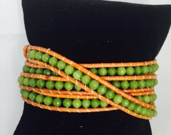 Chan Luu inspired 4 wrap bracelet! Autumn colors!