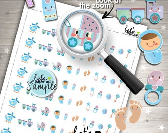 60%OFF - Baby Stickers, Printable Planner Stickers, Baby Boy, Kawaii Stickers, New Baby Stickers, Planner Accessories, Baby Shower