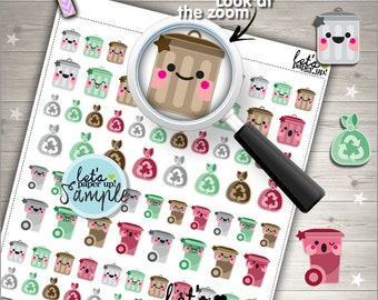 60%OFF - Garbage Stickers, Printable Planner Stickers, Trash Can Garbage, Kawaii Stickers, Planner Accessories, Printable Stickers, DIY