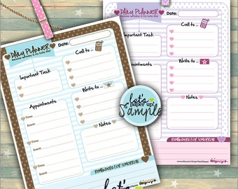60%OFF - Daily Planner, Printable Planner, To Do List, Daily Schedule, Day Planner, Organizing Printables, Kawaii Planner, Planner Pages, Or