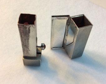 Antique sterling silver lipstick holder