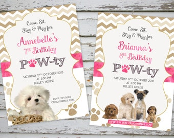 Puppy Birthday Invitation Printable Puppy Party Puppy Birthday Puppy Invite