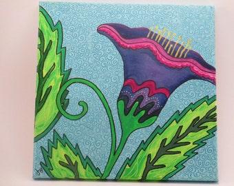 Acrylic on Canvas Painting, Original Art, Wall Decor, Graphic, Modern Style