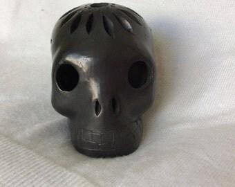 calavera de barro negro / mexican skull black mud