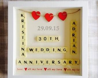 Scrabble Art Wedding/Anniversary Gift Present