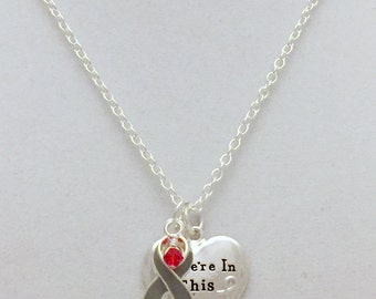Diabetes Awareness Necklace for Type 1 and Type 2 Diabetes In this Together