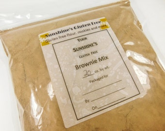 Gluten Free Chocolate Chip Brownies Mix - Homemade Gluten Free Baked Goods - Gluten Free Snacks - Holiday Desserts - Gluten Free Diet