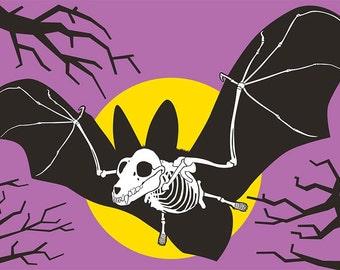 Bat Bones Postcard