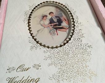 Vintage wedding Album,guest book, memory book made in Spain. Wedding memory book, Guest book,