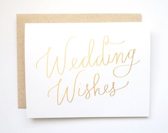 Wedding Wishes card. Wedding card.