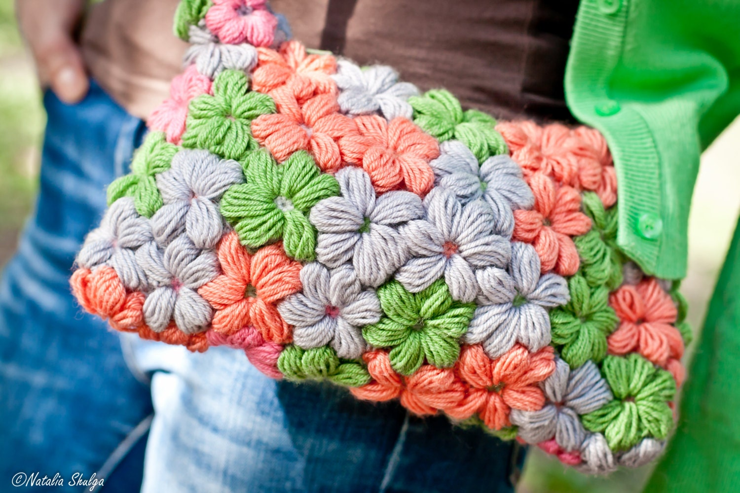 Flower Crochet Bag : Flower crochet bag Crochet shoulders bag Flower by SweetForHome