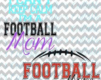 Football Mom, Football Season, Football Monogram, .SVG/.PNG/.EPS Files