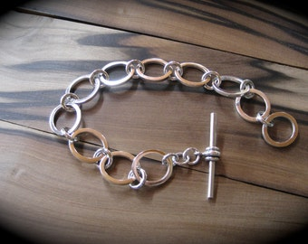 hand made solid silver barcelet