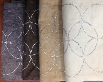 Slightly Imperfect Rhinestone Table Runner   Interlocking Circles (Stocked  In USA!)   Choice